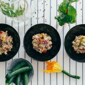 Rice carbonara